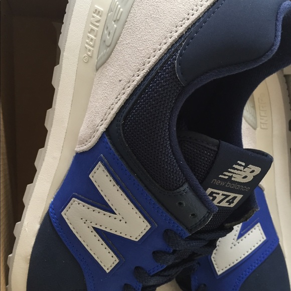 Balance 574 Navy Blue Grey Size